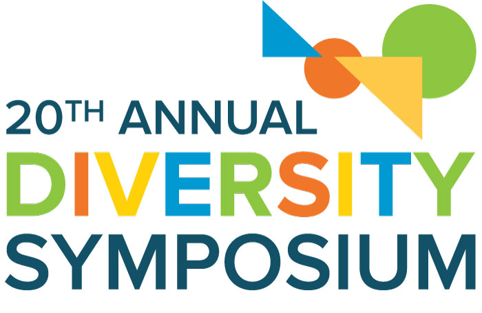 20th Annual Diversity Symposium, depicting multicolored shapes