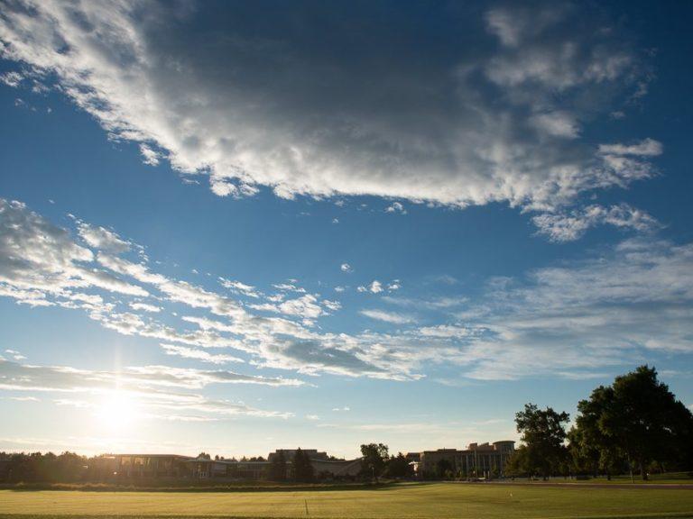 Sunset over CSU campus
