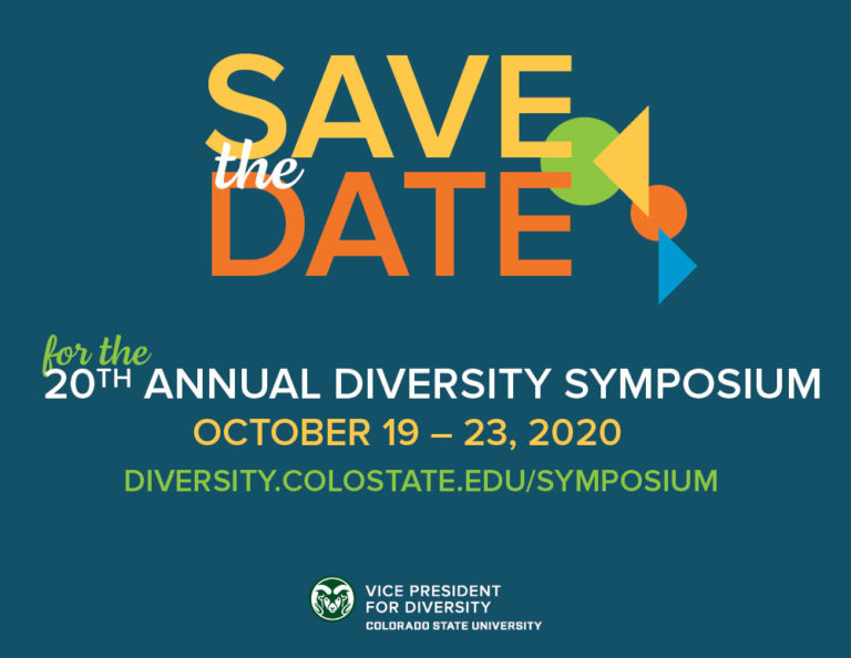 Save the Date logo for the 2020 Diversity Symposium, October 19 - 23, 2020