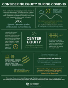 Considering equity during COVID-19 graphic (full text available)