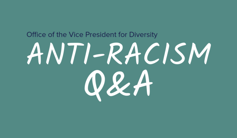 Title screen showing the text 'Anti-Racism Q&A'