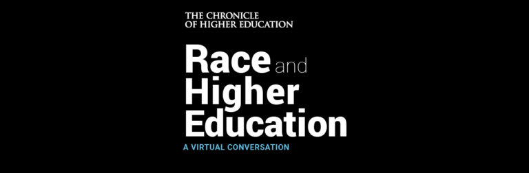 Logo of Race and Higher Education webinar