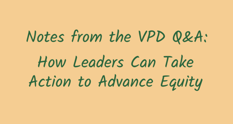 How Leaders Can Take Action to Advance Equity