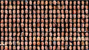 A collection of headshots of people in power in the U.S.