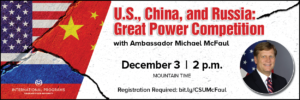 US, China, and Russia: Great Power Competition