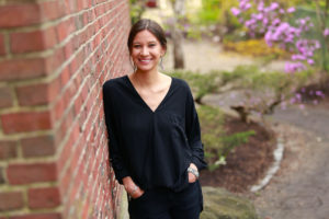 Portrait of Megan Red Shirt-Shaw