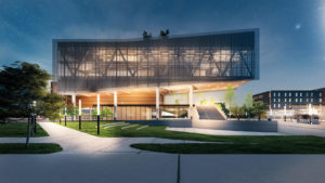 Rendering of Apple's new Propel Center, an innovation hub for the entire HBCU community that will provide curriculum, internships, and mentorship opportunities.