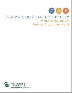 Creating Inclusive Excellence Program Report Cover