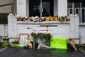 A memorial for victims of a killing spree in Atlanta