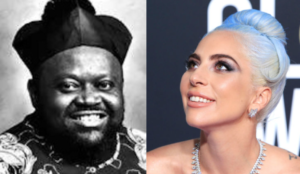 Side-by-side headshots of Carl Bean and Lady Gaga