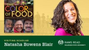 Rams Read book, The Color of Food, author Natasha Bowens Blair