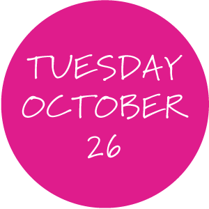 Tuesday, October 26