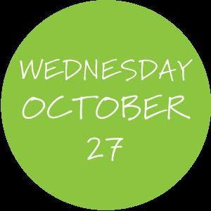 Wednesday, October 27
