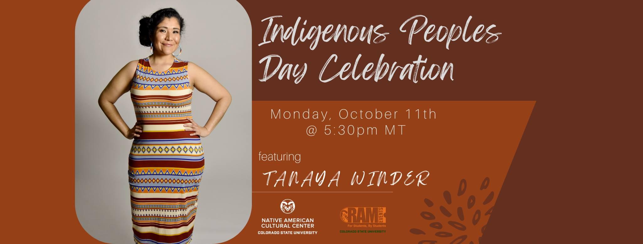 Indigenous Peoples Day speaker, Tanaya Winder