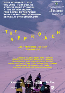 The Approach movie poster: four individuals looking down a ski run