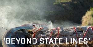 Beyond State Lines with burning sage in the background