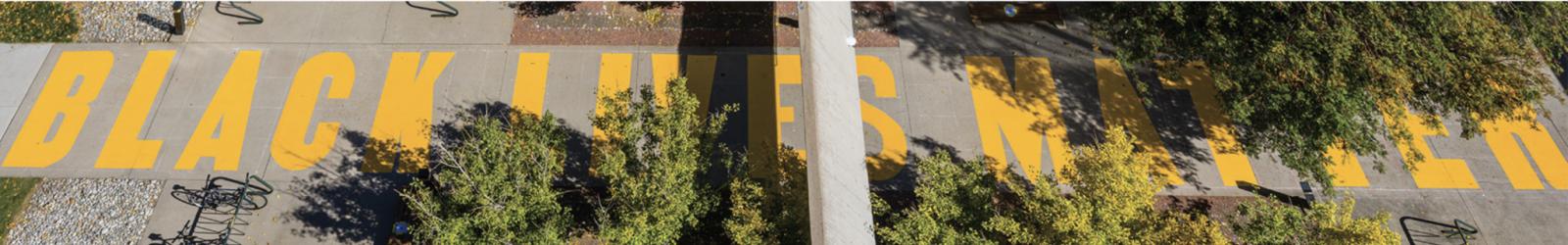 Black Lives Matter sidewalk mural